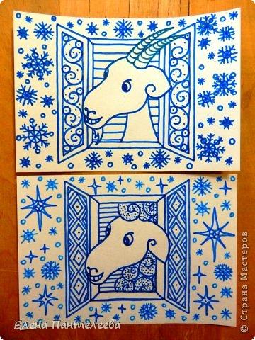 Мастер-класс Урок рисования Рисование и живопись Рисуем символ 2015 года МК Бумага фото 2