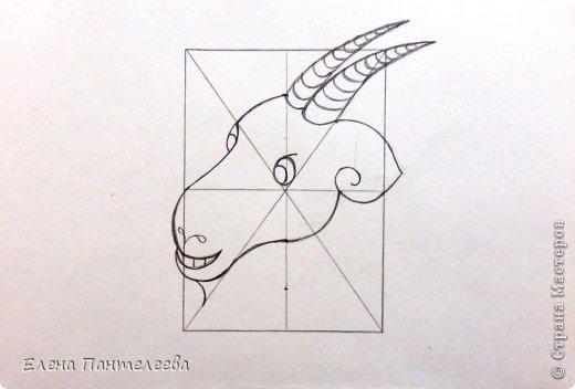 Мастер-класс Урок рисования Рисование и живопись Рисуем символ 2015 года МК Бумага фото 23