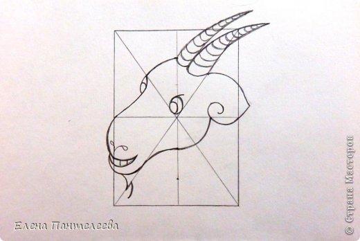 Мастер-класс Урок рисования Рисование и живопись Рисуем символ 2015 года МК Бумага фото 24
