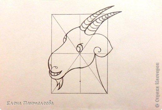 Мастер-класс Урок рисования Рисование и живопись Рисуем символ 2015 года МК Бумага фото 25