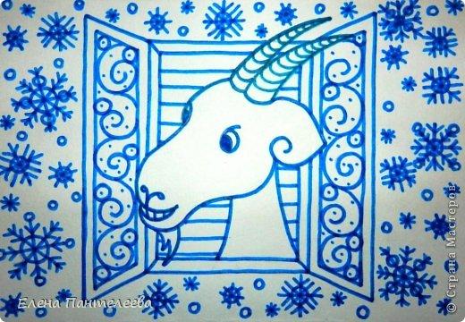 Мастер-класс Урок рисования Рисование и живопись Рисуем символ 2015 года МК Бумага фото 31