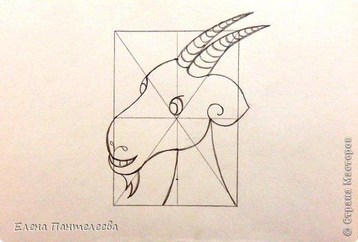 Мастер-класс Урок рисования Рисование и живопись Рисуем символ 2015 года МК Бумага фото 26