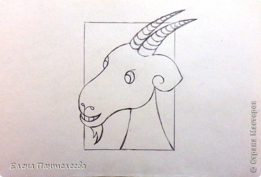 Мастер-класс Урок рисования Рисование и живопись Рисуем символ 2015 года МК Бумага фото 27