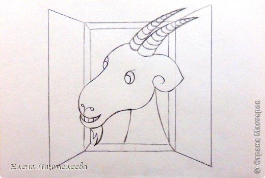 Мастер-класс Урок рисования Рисование и живопись Рисуем символ 2015 года МК Бумага фото 28