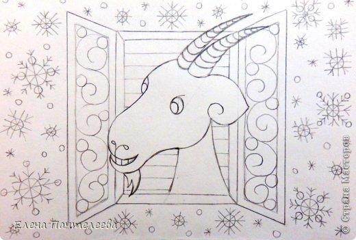 Мастер-класс Урок рисования Рисование и живопись Рисуем символ 2015 года МК Бумага фото 30