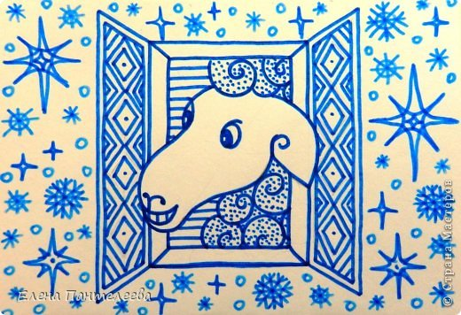 Мастер-класс Урок рисования Рисование и живопись Рисуем символ 2015 года МК Бумага фото 40