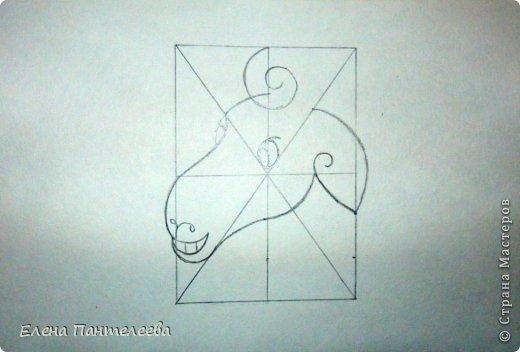 Мастер-класс Урок рисования Рисование и живопись Рисуем символ 2015 года МК Бумага фото 35