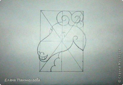 Мастер-класс Урок рисования Рисование и живопись Рисуем символ 2015 года МК Бумага фото 37