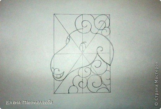 Мастер-класс Урок рисования Рисование и живопись Рисуем символ 2015 года МК Бумага фото 38