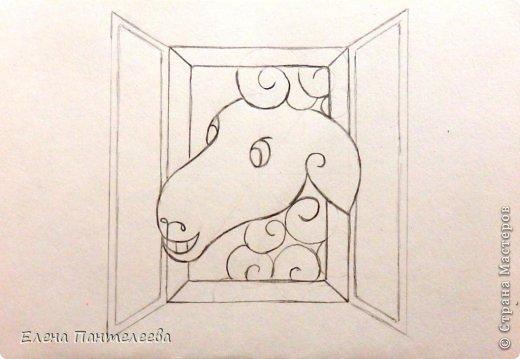 Мастер-класс Урок рисования Рисование и живопись Рисуем символ 2015 года МК Бумага фото 39