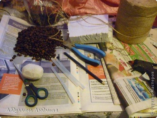 Мастер-класс Поделка изделие Новый год Моделирование конструирование Овечка Стеша кофейная  Кофе Шпагат фото 4
