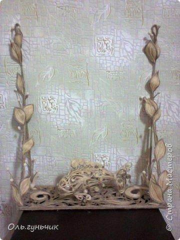 Мастер-класс Поделка изделие Моделирование конструирование Шпагатная полочка Клей Тесто соленое Шпагат фото 21