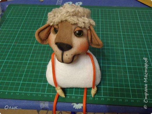 Куклы Новый год Шитьё Большой м к овечки символ 2015 г Капрон Нитки Пряжа Шерсть фото 41