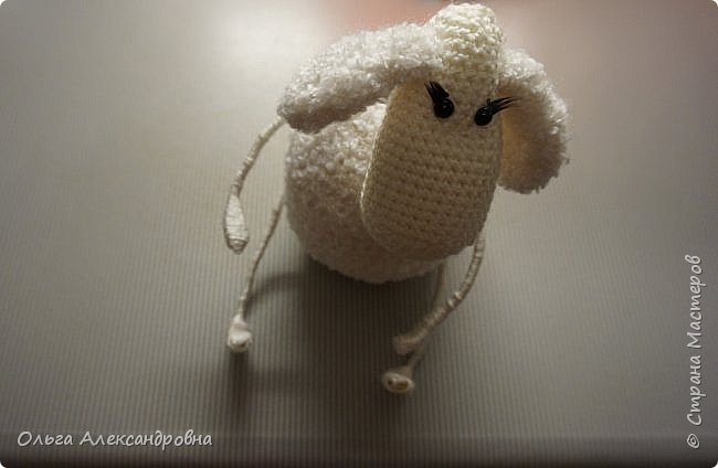 Мастер-класс Поделка изделие Новый год Вязание крючком Гламурная овечка описание Нитки Проволока Пряжа фото 20