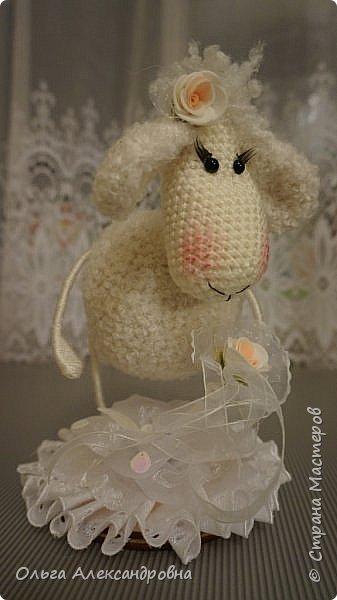 Мастер-класс Поделка изделие Новый год Вязание крючком Гламурная овечка описание Нитки Проволока Пряжа фото 2
