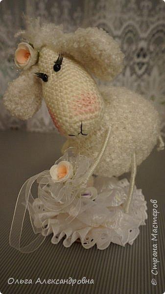 Мастер-класс Поделка изделие Новый год Вязание крючком Гламурная овечка описание Нитки Проволока Пряжа фото 4