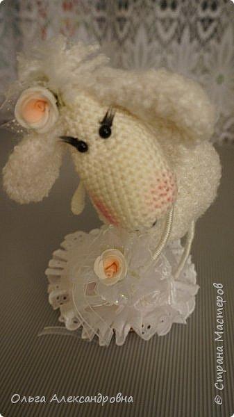Мастер-класс Поделка изделие Новый год Вязание крючком Гламурная овечка описание Нитки Проволока Пряжа фото 25