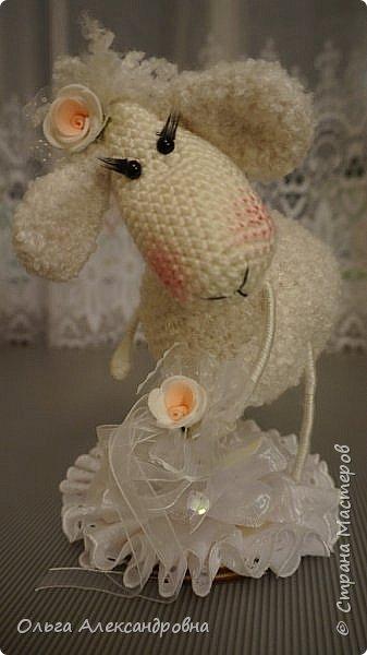 Мастер-класс Поделка изделие Новый год Вязание крючком Гламурная овечка описание Нитки Проволока Пряжа фото 24