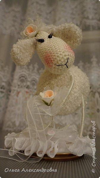 Мастер-класс Поделка изделие Новый год Вязание крючком Гламурная овечка описание Нитки Проволока Пряжа фото 5