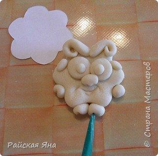 Мастер-класс Поделка изделие Новый год Лепка Барашек Гуашь Клей Магниты Тесто соленое фото 7