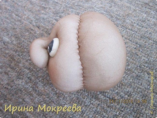 Куклы Мастер-класс Новый год Шитьё снегурочка 1-я часть Капрон Мех Нитки Сутаж тесьма шнур Ткань фото 7