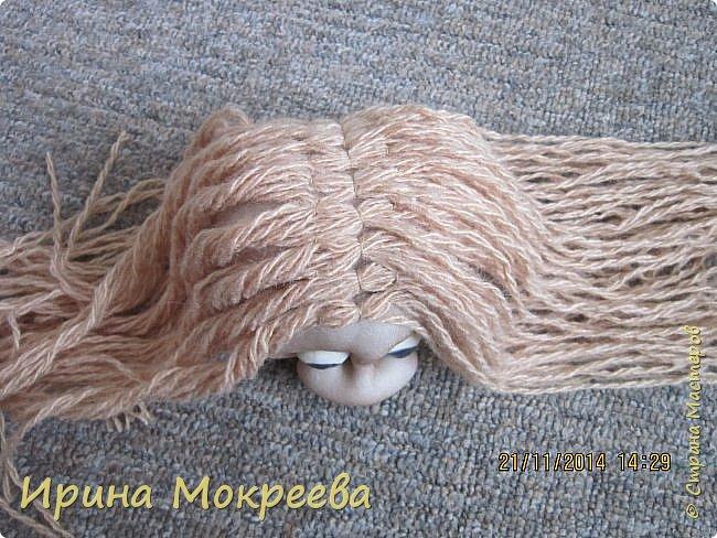 Куклы Мастер-класс Новый год Шитьё снегурочка 1-я часть Капрон Мех Нитки Сутаж тесьма шнур Ткань фото 10