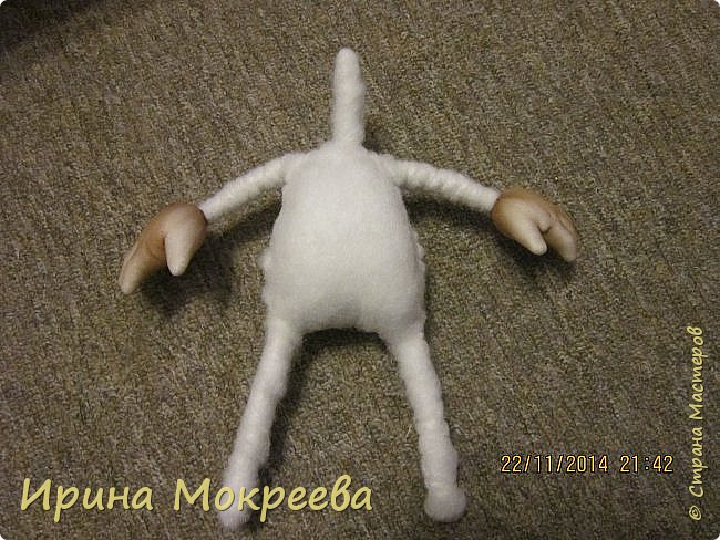 Куклы Мастер-класс Новый год Шитьё снегурочка 1-я часть Капрон Мех Нитки Сутаж тесьма шнур Ткань фото 16
