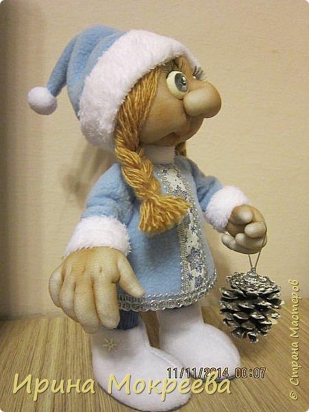Куклы Мастер-класс Новый год Шитьё Мастер-класс снегурочка 2-я часть Капрон Нитки Проволока Сутаж тесьма шнур Ткань фото 12