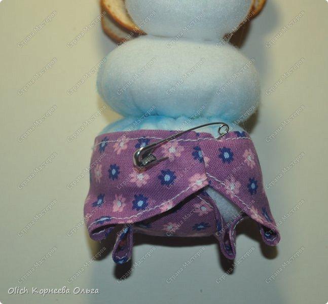 Игрушка Мастер-класс Новый год Шитьё Снеговик-малыш Бусины Клей Кружево Проволока Ткань Фетр фото 21