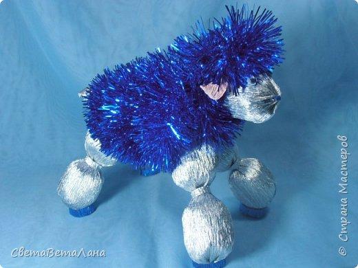 Мастер-класс Свит-дизайн Новый год Моделирование конструирование Сладкая овечка     Бумага гофрированная фото 3