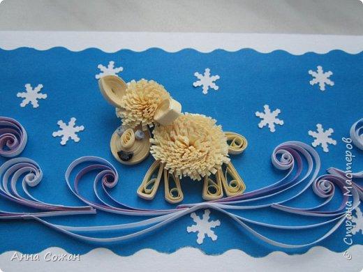 Открытка Новый год Квиллинг Новогоднее вдохновение Открытки Бумажные полосы Бусины фото 12