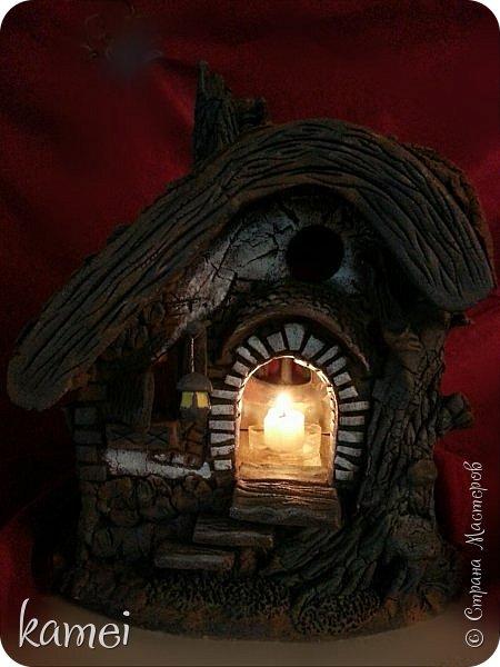 Мастер-класс Поделка изделие Лепка мой сказочный домик Гипс Краска Тесто соленое фото 6
