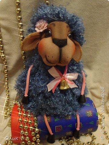 Куклы Новый год Шитьё Большой м к овечки символ 2015 г Капрон Нитки Пряжа Шерсть фото 75