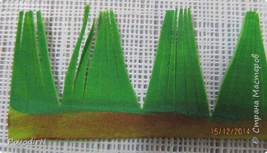 Мастер-класс Поделка изделие Новый год Моделирование конструирование Плетение Еловая веточка из фоамирана Бумага Фоамиран фом фото 11