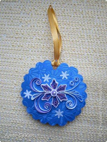 Открытка Новый год Квиллинг Мини-подрочки к Новому году и не только Бумажные полосы Бусины фото 14