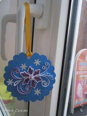 Открытка Новый год Квиллинг Мини-подрочки к Новому году и не только Бумажные полосы Бусины фото 16