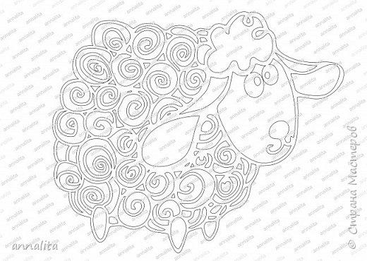 Картина панно рисунок Новый год Вырезание Вырезанка на окно Овечка Бумага фото 2