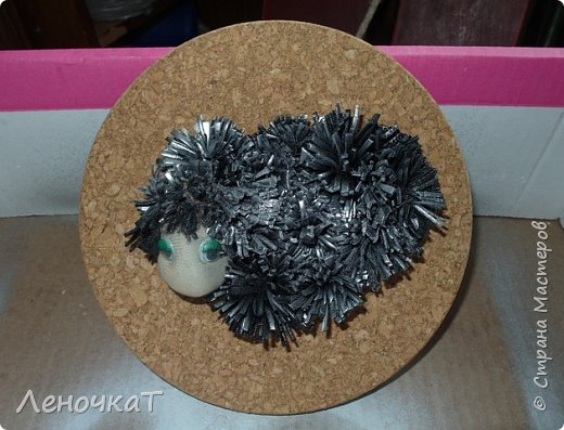Картина панно рисунок Мастер-класс Новый год Ассамбляж Новогоднее панно Овечка Кожа фото 12
