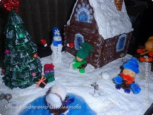Поделка изделие Новый год Моделирование конструирование Зимняя фантазия Бумага Картон Материал природный фото 3