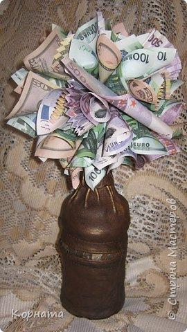 Бонсай топиарий День рождения Моделирование конструирование Денежное дерево и морской топиарий Бутылки стеклянные Кожа Ракушки фото 1