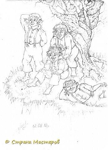 Картина панно рисунок Рисование и живопись Эльфы и прочие волшебные твари Акварель Гуашь Карандаш фото 1