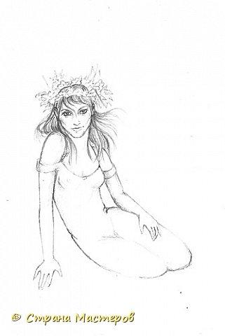 Картина панно рисунок Рисование и живопись Эльфы и прочие волшебные твари Акварель Гуашь Карандаш фото 5