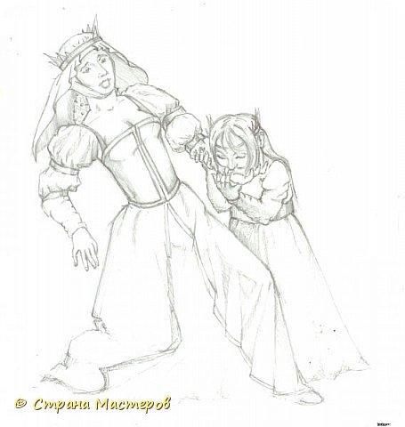 Картина панно рисунок Рисование и живопись Эльфы и прочие волшебные твари Акварель Гуашь Карандаш фото 6