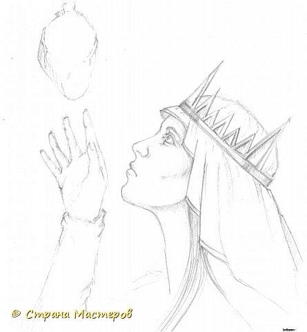 Картина панно рисунок Рисование и живопись Эльфы и прочие волшебные твари Акварель Гуашь Карандаш фото 7