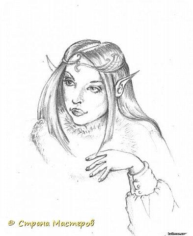Картина панно рисунок Рисование и живопись Эльфы и прочие волшебные твари Акварель Гуашь Карандаш фото 11