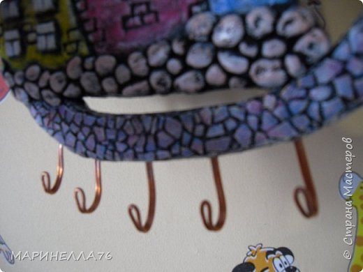 Мастер-класс Поделка изделие Картонаж Папье-маше Ключницы МК Бумага Картон Клей Тесто соленое фото 19