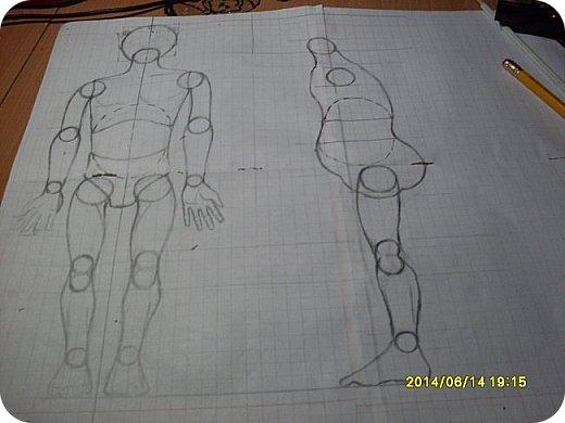 Игрушка Лепка Моя первая шарнирная кукла Бумага Клей Краска Пастель Пластика Пластилин Фольга фото 1