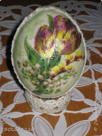 Мастер-класс Поделка изделие Пасха Как сделать заготовку для яиц быстро и недорого Клей Салфетки Скорлупа яичная фото 16