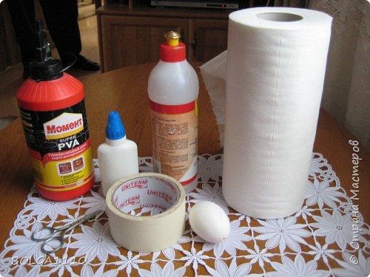 Мастер-класс Поделка изделие Пасха Как сделать заготовку для яиц быстро и недорого Клей Салфетки Скорлупа яичная фото 2