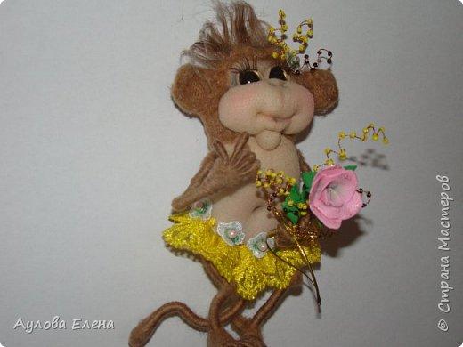 Игрушка Шитьё Обезьянки -магниты на холодильник Капрон Картон фото 3
